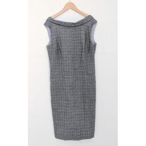 Banana Republic Grey Plaid Stretch Sheath Dress